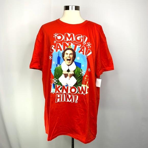Elf Movie Buddy the Elf SANTA Christmas T-Shirt Sizes S-2XL I KNOW HIM